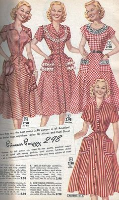 Clothes of the From a 1953 catalog # Vintage # Fashion # - Source by norbianon Vintage Fashion 1950s, Vintage Mode, Retro Fashion, Vintage Style, Vintage Hats, Victorian Fashion, Fashion Fashion, Vintage Dress Patterns, Vintage Dresses