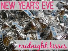 New Year's Eve Midnight Kisses Christmas And New Year, Christmas Holidays, Holidays 2017, Nye Traditions, Holiday Parties, Holiday Fun, Family Room Colors, Midnight Kisses, Hershey Kisses