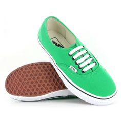 Vans Authentic Green Black Womens Trainers