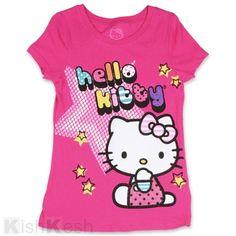 Hello Kitty Glitter Print Girls Shirt. #GirlsClothing #TShirts