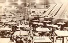 The Oak Room, a basement-level cafeteria at the Walgreen Co. State and Randolph Streets, Chicago, Illinois.