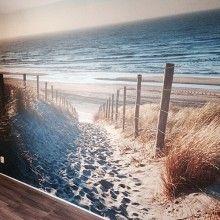 Fotobehang Duinen met uitzicht op het strand en zee