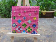 Floating Flowers, Stitch Kit, Straw Bag, Cross Stitch, Bags, Handbags, Punto De Cruz, Totes, Crossstitch