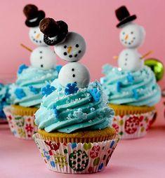 Snowman Christmas Cupcakes1