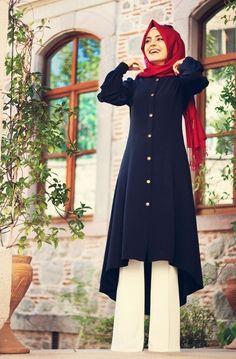 Pınar Şems - Lacivert Uzun Tunik