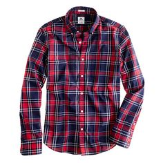 can never go wrong with a red/blue plaid shirt / men's style
