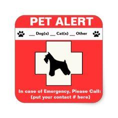 Pet Alert Emergency sticker