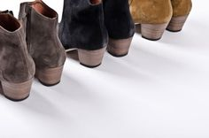 You've gotta love 'em all Isabel Marant Dicker boots Suede Booties, Suede Shoes, Shoe Boots, Ankle Boots, Fashion Details, Boho Fashion, Fashion Shoes, Fancy Shoes, Me Too Shoes
