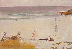Charles Conder (English-born Australian, 1868-1909) - Bronte Beach, 1888