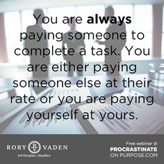 Are you aware of the costs? #quote #discipline #motivation #inspiration #productivity #success #time #decision #management #leadership #POPbk #roryvaden