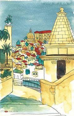 Sicilia Sketchbook - Olga Molina