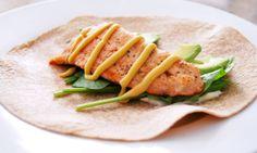 Salmon and Avocado Lunch Wrap I SpryLiving.com