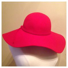 Vintage Floppy Wool Hat in Bright Cherry Red with by VBVintage, $32.00