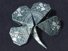 4 LEAF CLOVER Money Origami