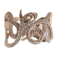 Roberto Cavalli Snakes bracelet with Swarovski crystals (2 635 SEK) ❤ liked on Polyvore