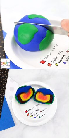 Layers of the Earth Project Is your student learning about the layers of the earth? Do you need some layers of the earth project ideas? This model of the layers of the Earth is not only colorful and eye-catching, but it requires very little material and Kindergarten Science, Science Classroom, Teaching Science, Student Learning, Elementary Science, Montessori Science, Montessori Education, Kindergarten Schedule, Kindergarten Social Studies
