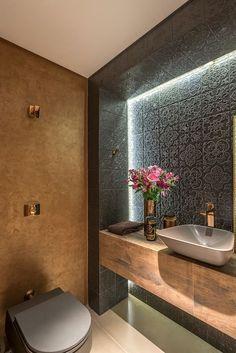 Dsc design: badezimmer von andréa buratto architecture & decoration - Noora A. Beautiful Bathrooms, Modern Bathroom, Small Bathroom, Bathroom Ideas, Half Bathrooms, Bathroom Taps, Bathroom Layout, Bathroom Designs, Bad Inspiration