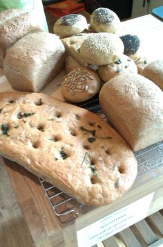 Beautifully baked bread (and an alliteration to boot!). Freshly made in our  Canterbury branch with the help of Vicky from 100% Bread.