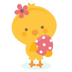 Easter chick SVG file and clipart