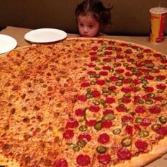 When this little girl was faced with an impossible task, and pizza definitely got tossed in the trash after: | 19 Times People Took Advantage Of Sweet, Innocent Pizza