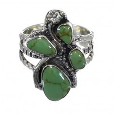 Genuine Sterling Silver Southwestern Turquoise Ring