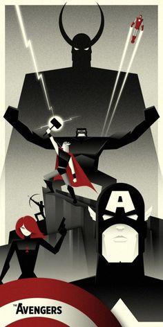 Futurist  Avengers by Bruce Yan