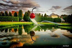 Sculpture garden near the Walker museum in Minneapolis, Minnesota.