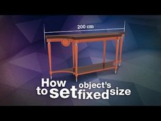 How to set object's fixed size in 3ds Max - YouTube