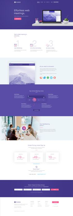 Web Meeting Landing Page by Balkan Brothers