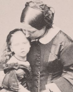 Sweet picture of Queen Victoria and Princess Beatrice.