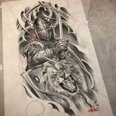 Jesus Tattoo, Tattoo On, Lion Tattoo, Tattoo Design Drawings, Tattoo Sleeve Designs, Sleeve Tattoos, Warrior Tattoos, Viking Tattoos, Dad Tattoos