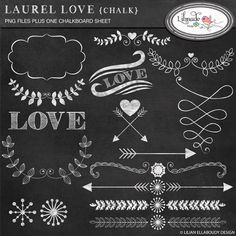 Download Hearts, arrows and laurel #chalkboard #cliparts - http://luvly.co/items/4018/Hearts-arrows-and-laurel