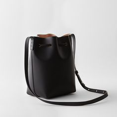 Mansur Gavriel Mini Bucket Bag Coated Preorder in Black