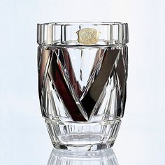 c1930s Val St. Lambert plum overlay cut to clear Deco crystal vase, Joseph Simon