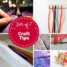 Sets of 7: Craft Tips - a collection of a few of the tips and tricks that I have shared over time at The Crafty Mummy #crafts #tips
