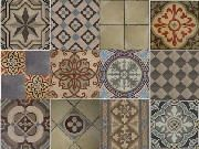 Swoon.  Encaustic tiles from Antiquario.  I want for my Victorian home!