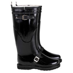 Motorcycle Rainboot Tall Black
