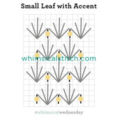 Small Leaf with Accent Stitch from August 10, 2016 whimsicalstitch.com/whimsicalwednesdays blog post