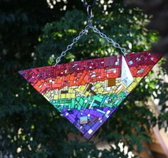 Stout and sparkle fabulous Pride mirror suncatcher for the garden by hungryholler.