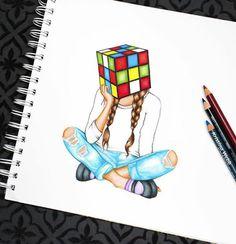 Kristina Webb Drawing Artwork Illustration