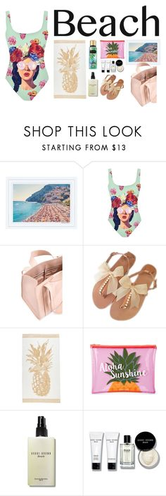 """Sun's Out: Beach Day"" by ivana-andrejic ❤ liked on Polyvore featuring Corto Moltedo, Sunnylife, Bobbi Brown Cosmetics, Victoria's Secret and beachday"