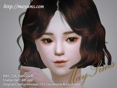 Sims 4 Convert Hair 22F / 22GFor female & girl / enable hat / 40ColorOriginal creator: newseaTS3 ConversionSim was used to 한 봄 that heeso1 made. maysims(http://www.maysims.com)Follow us & check new items (http://maygamestudio.tumblr.com/)please '♥' or 'Reblog', if you like it. thank you >3<Download link