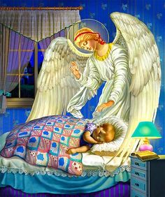 """Illustrations for """"My First Prayerbook"""", Guardian Angel Russian Painting, Russian Art, Angels Beauty, Diamond Drawing, Mount Rainier National Park, Angels Among Us, Catholic Art, Guardian Angels, Diy Painting"""