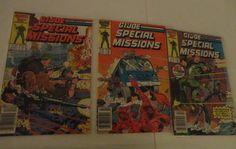 Vintage 3 Marvel G.I. Joe Comic Books Special Missions A Real American Hero find me at www.dandeepop.com