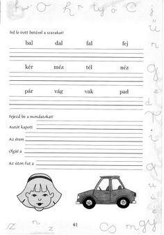 Írott betűk - kisferenc.qwqw.hu Back To School, Teacher, Album, Education, Comics, Pdf, Animals, Speech Language Therapy, Professor