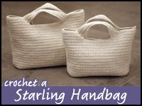 """Nice!  Free crochet-a-long, 5 part video for this beautiful purse, at the bottom of the page. Can't wait to try this. There's is made with Lily """"Sugar and Cream."""""""
