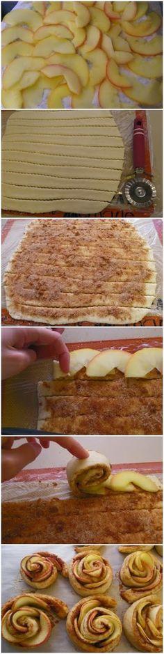 How To Make Apple Roses   Ingredients  1 puff pastry sheet  3 apples  5 TBSP sugar or splenda  2 teaspoons cinnamon  1 pinch nutmeg  1 teas...