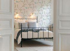camera-con-letto-in-ferro-battuto