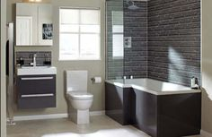 Minimalist Black White Contemporary Bathroom Design With Glass