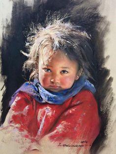 Portrait pastel sec - portrait soft pastel - Javad Soleimanpour Atölyesi
